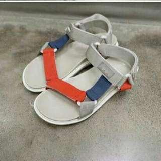 三色拼接涼鞋  韓國   size:38
