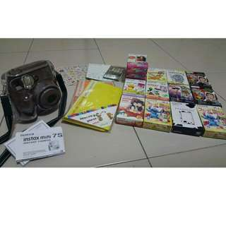 Instax Mini 7s With Films, Stickers And Album