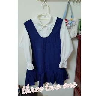 現貨 深藍色 吊帶裙