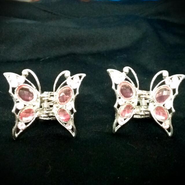 粉紅蝴蝶對夾(九成新)