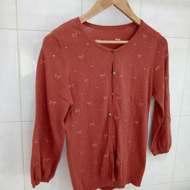 (免運)-針織七分袖小外套