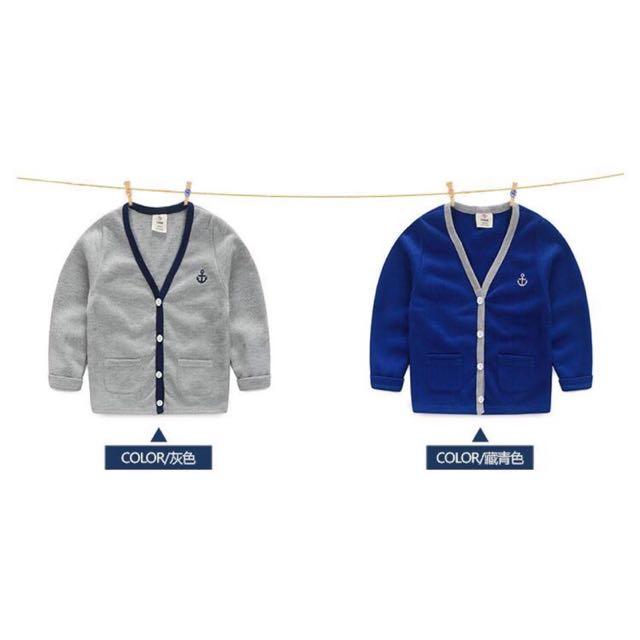 針織質感單排釦法國磨毛外套
