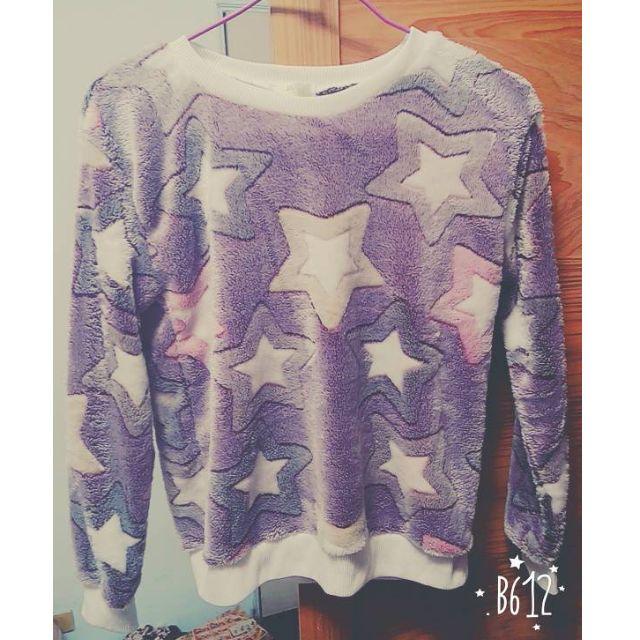 紫色星星上衣