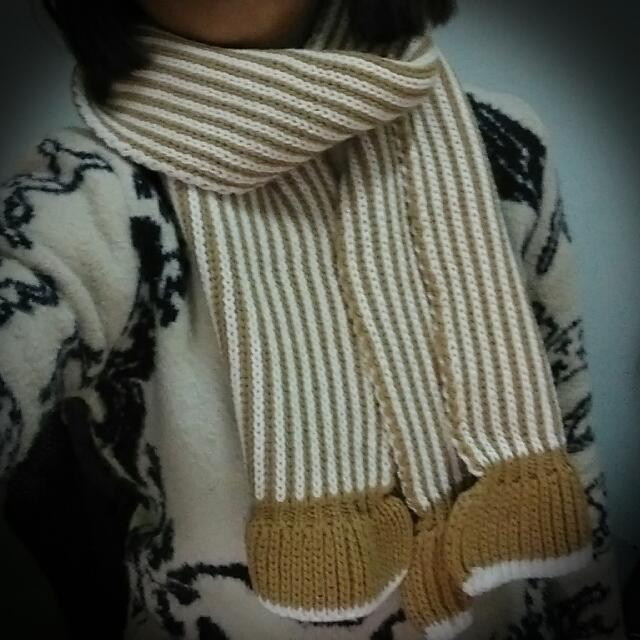 <全新>條紋圍巾