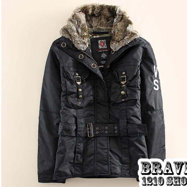 歐美流行新款軍裝鋪棉外套