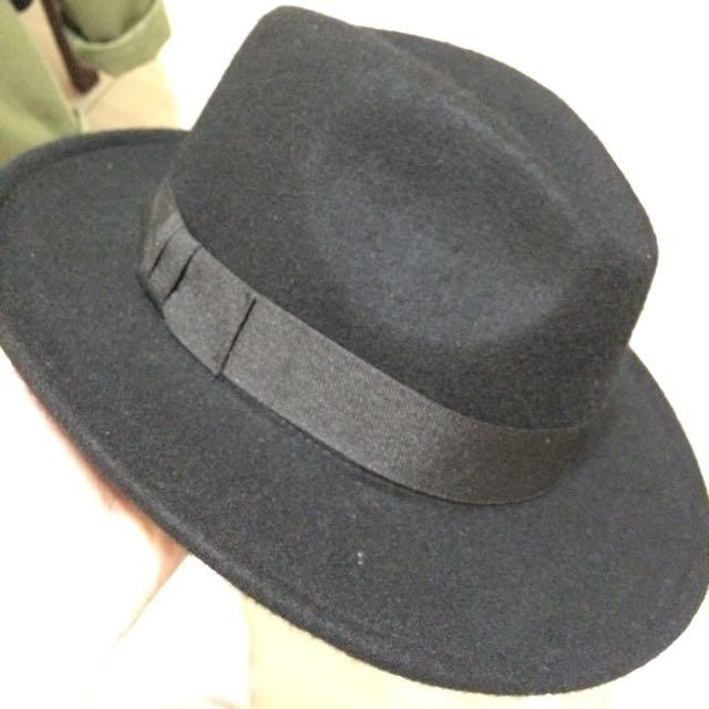 大帽沿 紳士帽 男女皆可戴