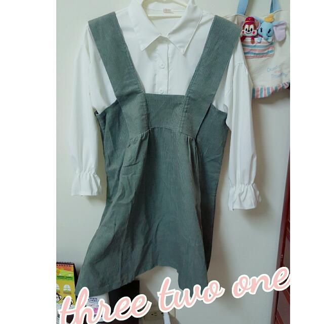 現貨 墨綠色 吊帶裙