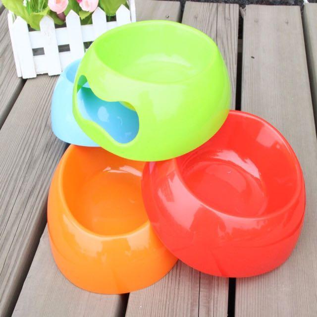 狗碗 貓碗 糖果色 飲水碗 飼料 隨機出貨 寵物用品