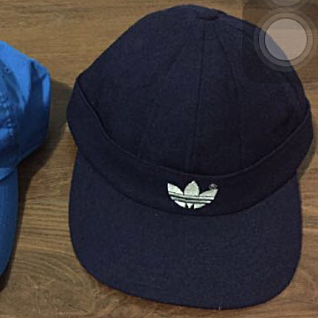 Adidas深藍老帽 全新 意者私
