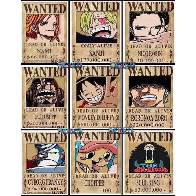 Bnib One Piece Wanted Posters Toys Games On Carousell