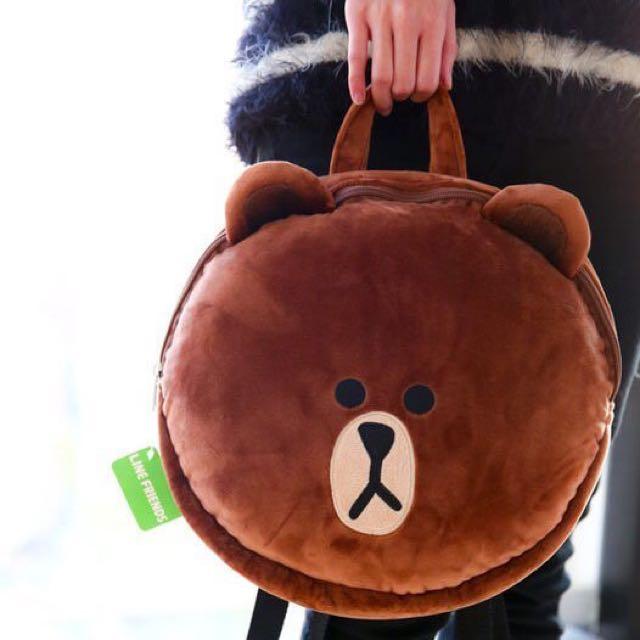 正版LINE熊大後背包