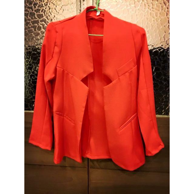 紅色西裝外套M號