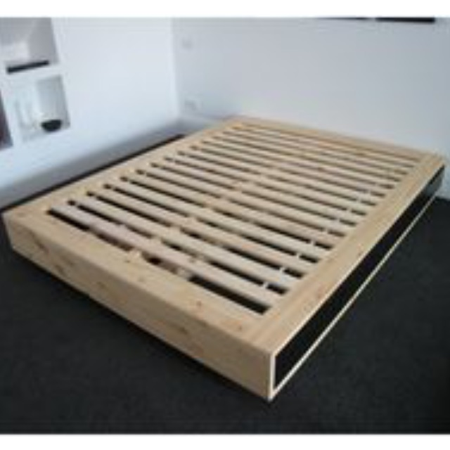 mandal ikea bed frame c w 4 drawers birch black. Black Bedroom Furniture Sets. Home Design Ideas