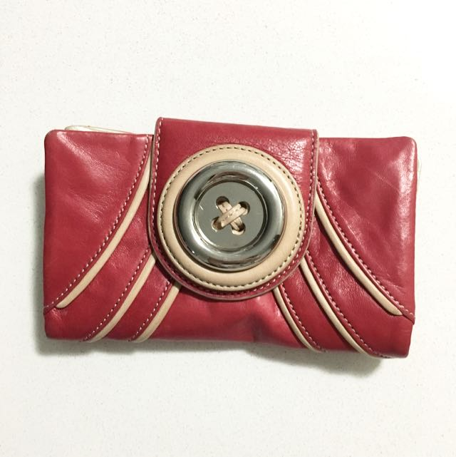 New Classic Mimco Button Red Wallet