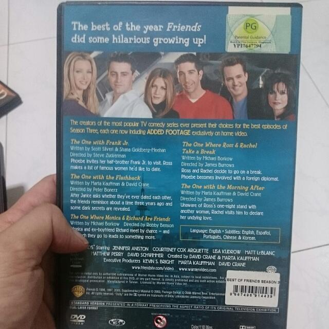 The Best Of FRIENDS Season 3 DVD