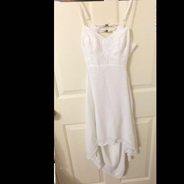 Tigerlily White Drawstring Dress - Size 10