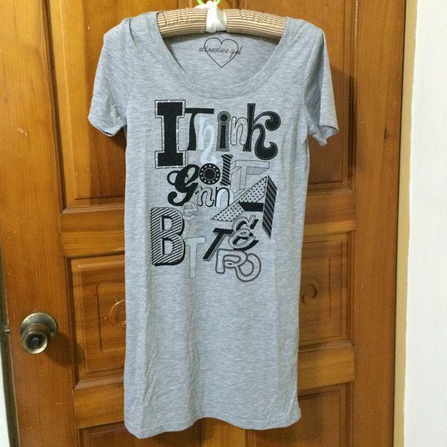 Uniqlo 副牌gu字母長版T/洋裝