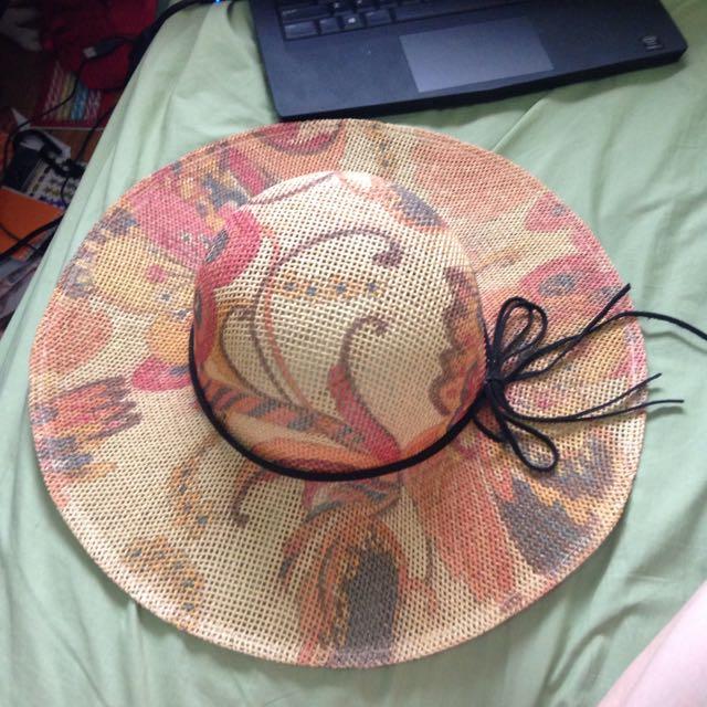 Vintage Style Broad Brimmed Hat