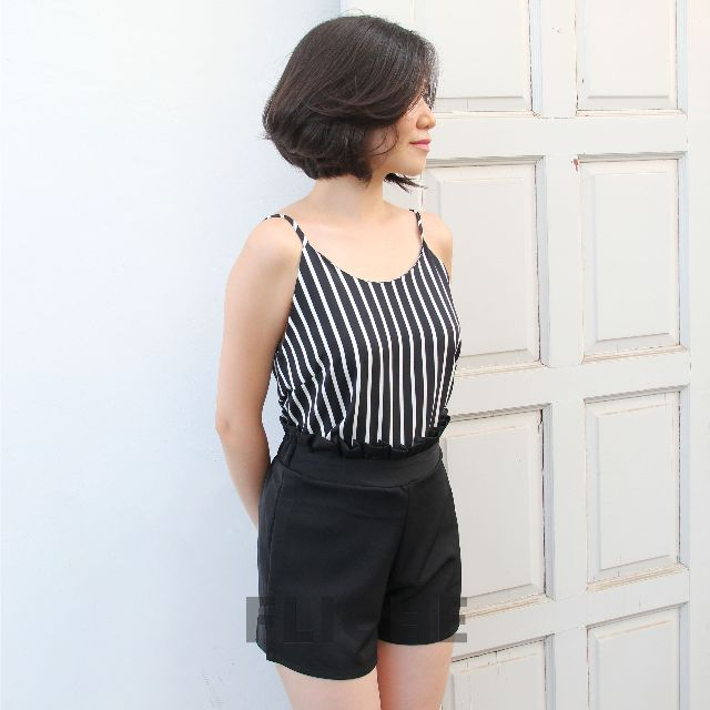 WHITE STRIPE TANK SET