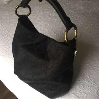 Oroton Black Hobo/Tote Leather Bag