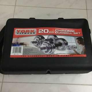 20kg Chrome Dumbbell