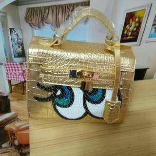 Big Eye Bag Gold