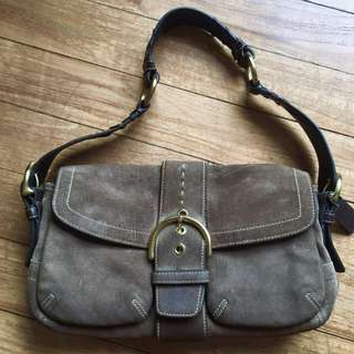 AUTHENTIC COACH SUEDE BAG