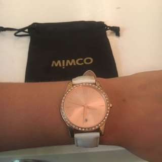 MIMCO TIMEPIECE WATCH HARLEQUIN WHITE ROSE GOLD