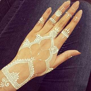 [SOLD OUT] Creamy White Henna Cones (Repost)