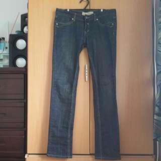 低腰牛仔褲 尺寸L