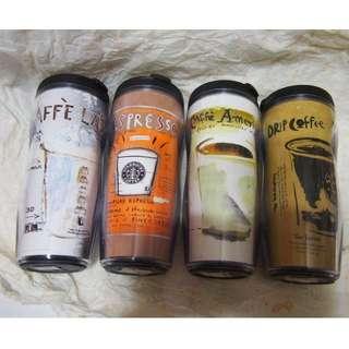 【收藏出清】Starbucks 星巴克 隨行杯 (4個含郵不分售)