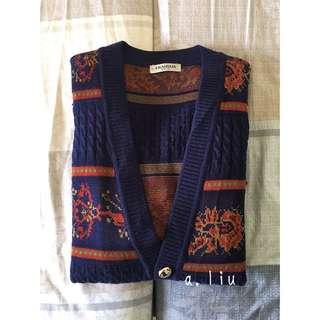 🚩古著騰紋針織外套