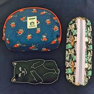 🔺貓咪鉛筆盒🔺貓咪iphone6/66s手機軟殼🔺Moomin化妝包