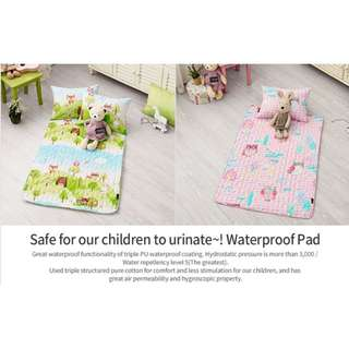 Waterproof 100% PURE COTTON QUILTED SOFT & COMFORTABLE PAD - Antibacterial/Deodorization Processed