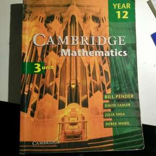 Cambridge Year 12, HSC Extension 1 Mathematics
