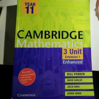 Cambridge Year 11 Extension 1 Mathematics