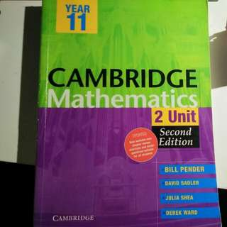 Cambridge Year 11, Extension 1 Mathematics