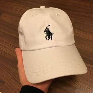 (含運)白色POLO老帽