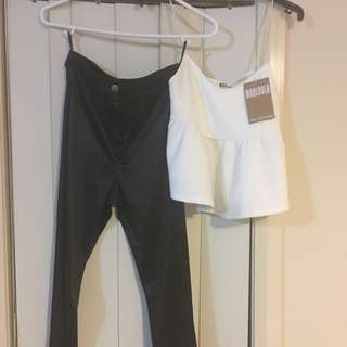 Peplum Top And Silk Pants Package