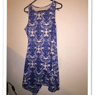 Size 10 Blue/white Dress