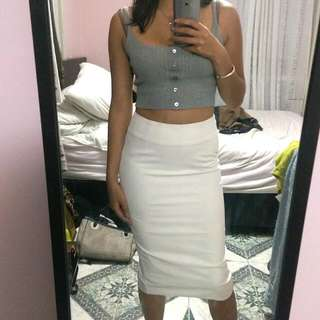 Maxim High Waisted Long Skirt