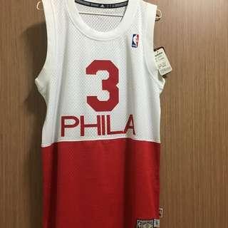 (暫留)全新正版NBA IVERSON 76人 復古版球衣