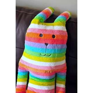 CRAFTHOLIC L號 夏威夷彩虹兔兔 大抱枕