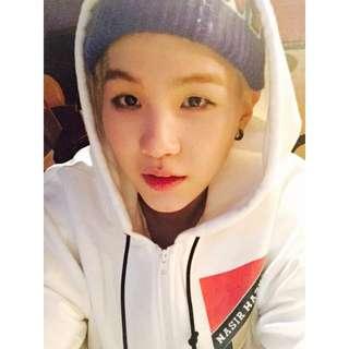 韓國 韓版 SUGA 同款 燙金黑白線條 連帽外套