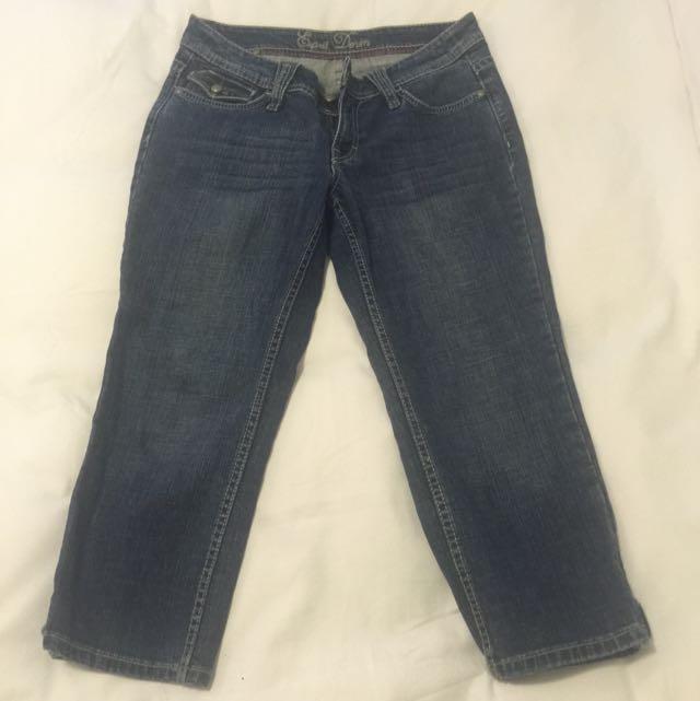 3/4 Denim Pants