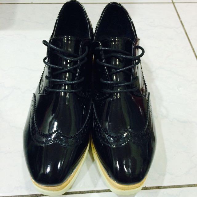 韓版牛津厚底鬆糕鞋