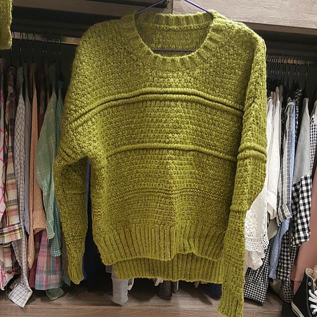 針織衣-芥末黃(綠