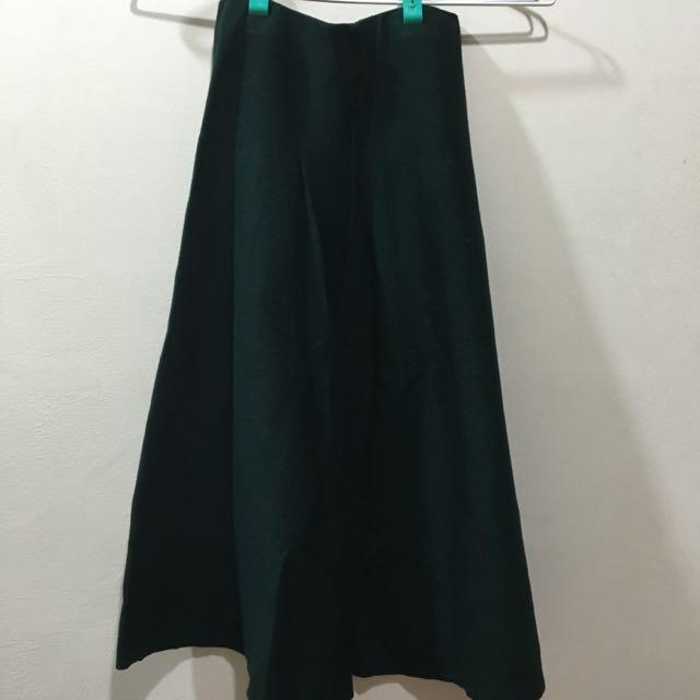 深綠針織裙
