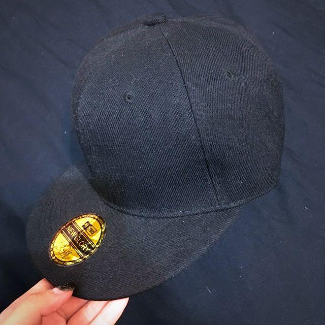 素色黑帽 SnapBack
