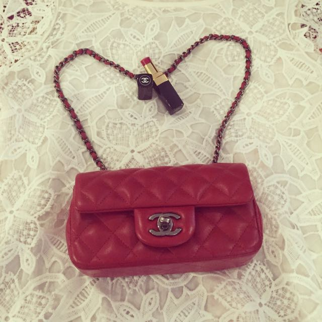 Chanel Classic Red Mini Flap Bag 100cf0e3d